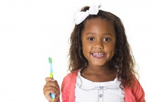 This kid is excited about brushing her teeth!