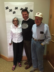 Gene Shultz, 92 years old, and Jane Shultz, 86 years old, have been patients for 15 years.