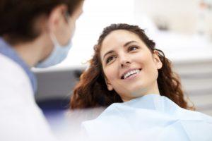 woman visiting dentist in Oklahoma City